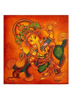 Buy online Paintings - Hand painted kerala mural painting design 7 from Desically Ethnic Kerala Mural Painting, Art Painting Gallery, Madhubani Painting, Madhubani Art, Ganesha Art, Pichwai Paintings, Indian Art Paintings, Watercolor Paintings, Saints