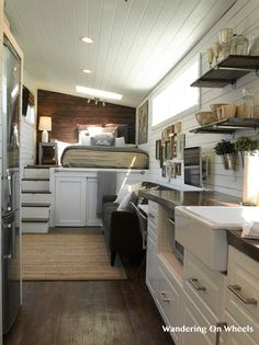 on wheels Tiny - Tiny House Listings . Walking on wheels Tiny - Tiny House Listings . Walking on wheels Tiny - Tiny House Listings . Tiny House Kitchen Organizing Tips House Design, Tiny Spaces, House, Small Spaces, Home, Maximize Small Space, House Interior, Container House, Tiny House Kitchen