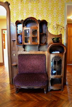 Art nouveau furniture by Tony Selmersheim in the 'Villa Demoiselle', Reims
