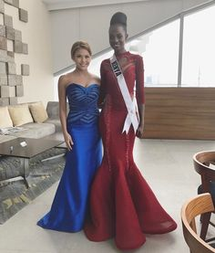 """Lovely post pageant interview with the """"Black Barbie Doll"""" Miss Kenya Mary Esther Were who made it to the Top 6 of the #missuniverse 2016. That was such a tough question about US President Donald Trump but you managed to answer gracefully under pressure with the best of your abilities. (I also thought she had a very good chance of winning the crown before she was asked that controversial question) You are such a confident, humble & beautiful woman ❤️ #kenya #misskenya"""