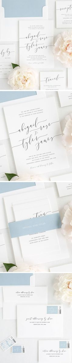 Design your perfect stationery suite from start to finish! Shine Wedding Invitations offers everything you need from save the dates and wedding menu to table numbers and thank you.  cards. White Matte wedding invitations with modern calligraphy make an el Elegant Wedding Invitations, Wedding Menu, Wedding Stationery, Wedding Cards, Wedding Suite, Wedding Ideas, Wedding Day Groom Gift, Bride And Groom Gifts, Wedding Calligraphy