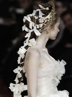 Lily Cole at Christian Lacroix Haute Couture Spring/Summer 2006