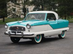 1958 Nash Metropolitan 1500 Coupe    I had one of these in 1966, same two tone as well.. imagine what it's worth now !!!