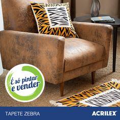 Tapete Zebra: http://www.acrilex.com.br/esopintarevender/pap-tapete-zebra.php