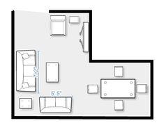 Furniture layout for my split level living room