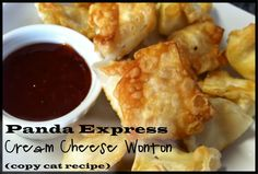 Panada Express Cream Cheese Wonton (copycat recipe), just made these! They rocked!
