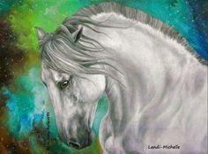 "Andalusian stallion by Landi-Michelle ""Breath of Life""  #LandiMichelleArts #Andalusianstallion"