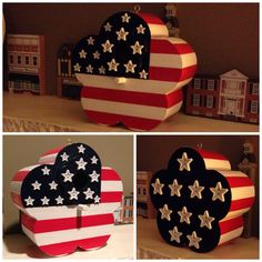 4th of July Flag Birdhouse. Stars and Stripes Forever.