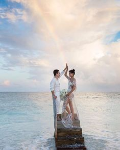 """Brazilian model Isabeli Fontana wore what many dubbed the """"naked wedding dress"""" when she married Diego Ferrero in the Maldives. Fontana sported an Agua de Coco creation over a matching white bikini for her special day. Isabeli Fontana, Vogue Wedding, Wedding Bride, Wedding Beach, Dream Wedding, Victoria's Secret Models, Jamie Hince, Model Victoria, Maldives Wedding"""