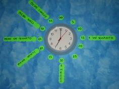 Orologio - impariamo a leggerlo: ecco un'idea semplice e che può essere realizzata facilmente a casa per aiutare i bambini ad imparare a leggere l'orologio