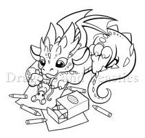 Coloring Dragon by DragonsAndBeasties