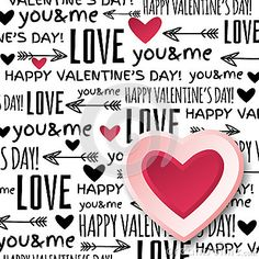 Background with  red valentine heart and wishes text,  vector illustration