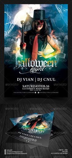 Halloween Party Flyer Template. Download here: http://graphicriver.net/item/halloween-party-flyer-template/5732622 #halloween #haunted #flyertemplate
