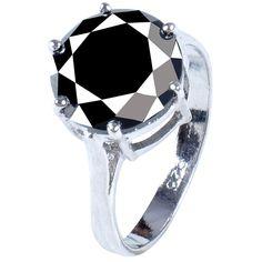 Anillo De Compromiso Diamante Negro 2.77 Ct - $ 2,990.00 en MercadoLibre