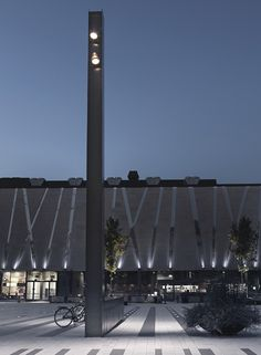 Completed in 2015 in Täby, Sweden. Images by Wichmann + Bendtsen, Åke Lindmann. The opening of Täby Torg marks a new chapter in the city of Täby's history. Landscape Plaza, Landscape Lighting, Landscape Architecture, Outdoor Lighting, Contemporary Landscape, Urban Landscape, Landscape Design, Modern Landscaping, Outdoor Landscaping