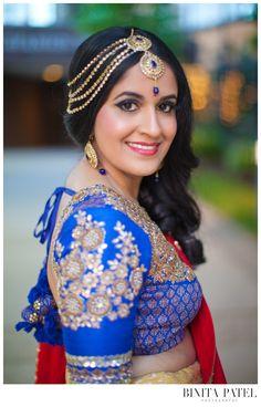 Indian Bride Hair & Makeup, by Shreni Patel. http://www.pinterest.com/shrendiz/ Bridal Hair & Makup. Modern Indian Bride. #hairmakeup #indianbride #modernindianwedding #bridaltika