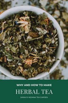 Making your own herbal tea is a great next step to your herb gardening journey. You can make tea from fresh herbs or dried herbs in your very own home! Making herbal tea | The benefits of herbal tea | Medicinal herbal tea | How to make your own herbal tea | Using dried herbs | How to dry your herbs | DIY herbal tea Organic Green Tea, Organic Herbs, Making Herbal Tea, Tea Benefits, Tea Gifts, Tea Blends, How To Make Tea, Grow Your Own Food, Medicinal Herbs