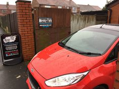 2016 Ford Fiesta in this morning for 5% Carbon limo Sun Strip