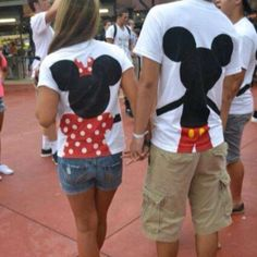 Please tell me where to find these shirts, I will make my boyfriend where the Mickey shirt lol