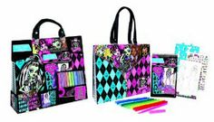Monster High Artist Tote Compact Portfolio Set by Fashion Angels. $18.59. 80 stickers and instructions. 40 monster high formatted sketch pages. Spiral bound sketch portfolio with plastic cover. 4 plastic stencil sheets with 110 stencil shapes. Monster high shoulder tote. Amazon.com                Designing a scary-cool wardrobe for your favorite Monster High characters has never been easier. The Fashion Angel's Monster High Monster Fashion Design Artist Tote fea...