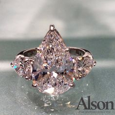Pear-cut diamond ring from Alson Jewelers