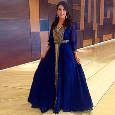 Luxury Sparkly Gold Beaded Muslim Evening Dresses 2017 Dubai Kaftan Formal Party Moroccan Royal Blue Evening Gowns Floor-Length hafiza -- AliExpress Affiliate's Pin.  Click the VISIT button to find out more on AliExpress website