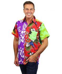 6badc164 Funky Hawaiian Shirt Men Short-Sleeve Front-Pocket Every Shirt is Unique  Multicolor - Multicoloured - C912MFW0LW9