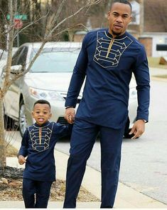 Features: African Print Fabric, Plain Material Shirt and a Matching Pants for Father and Son. Sizing: Each Sizing is a custom made to your personal measurements,kindly leave a note of your measurements when checking out. Fabric of choice can be chosen Each piece is Sewn with Love, We are ready to