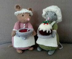 Knitting Stitches, Knitting Patterns Free, Free Knitting, Crochet Patterns, Crochet Mouse, Knit Crochet, Alan Dart, Cute Mouse, Sewing Baskets