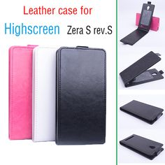 Luxury Retro Genuine Real Leather Case Cover for Highscreen Zera S rev S Vintage Flip Phone Cases for Highscreen Zera S rev S #Affiliate