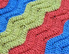 The Color Basics Ripple Crochet Pattern is ripple crochet at it's easiest and most classic! | AllFreeCrochetAfghanPatterns.com