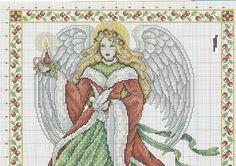 73919-a1a0e-30607825-.jpg 1,600×1,126 pixels Christmas angel cross stitch pattern
