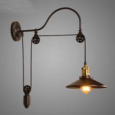 Lampe accordéon industrielle, applique murale design : Luminaires ...
