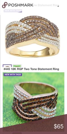 Two Tone Statement Ring!  Beautiful!! Two Tone Statement Ring.  Available for shipping January 10th-Beautiful!! Jewelry Rings