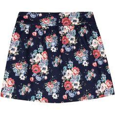 Flower print mini skirt ($53) ❤ liked on Polyvore featuring skirts, mini skirts, bottoms, saias, faldas, short floral skirt, short blue skirt, floral pleated skirt, zipper skirt and blue skirt
