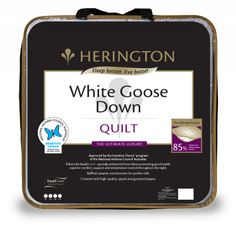 Save on the Herington Supreme 85% White Goose Down Quilt King Bed and a wide range of Herington products at Beds Online