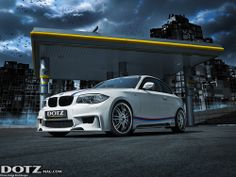 An elemental force on brilliant wheels: a BMW 135i by Rieger Tuning rolling on the elegantly-aggressive Dotz Shift shine.  more pics and info: www.dotzmag.com/magazine/blog/The-brilliant-revelation-the-Dotz-Shift-shine