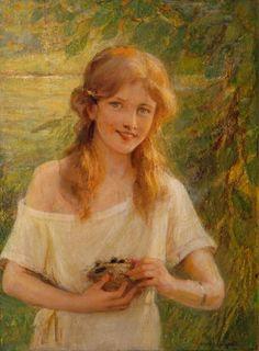 "Albert Lynch, ""La Jeune Fille au Nid"" (""Girl with a Nest"")"