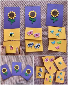 A piece of colored paper and stickers is all you need in order to make this game. A great way for kids to practice counting and matching numbers. ❗ Link available on Romanian territory only. Educational Crafts, Diy Games, Colored Paper, Counting, Numbers, Crafts For Kids, Stickers, Link, How To Make