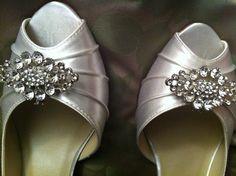 Rhinestone Shoe Clips  Set of 2  Ready to Ship by bigrockbridal, $49.00