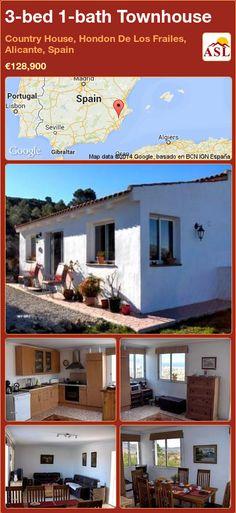 3-bed 1-bath Townhouse in Country House, Hondon De Los Frailes, Alicante, Spain ►€128,900 #PropertyForSaleInSpain