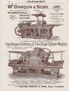 Printing Machine [wharfedale-printing-machine] - £2.85 : Antique ...
