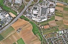 Der rote Punkt zeigt den möglichen Standort einer neuen Unterkunft für die Flüchtlinge. Foto: Stadt Stuttgart