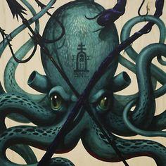 Sea No Evil Wood Print by Jeff Soto