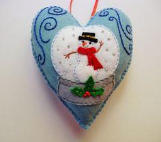 Boule+à+neige+sentait+coeur+ornement+Snowglobe+par+heartfeltwhimsy