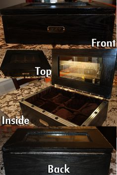 a watch case: made this whole thing from scratch with my stepdad for my boyfriend's christmas present #diy