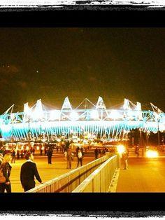 Inside the Olympic Stadium. #Olympics Olympics