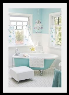 I'm not sure this is the exact RGB (10, 186, 181) since it appears a bit lighter but a Tiffany blue powder room with chocolate brown accents is what I'm after. But what to do about the toilet???? White would just ruin the look.