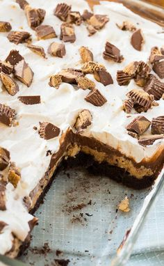 Chocolate Peanut Butter Layer Dessert - 4 delicious layers!
