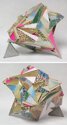 Aaaron S Moran_ If you resist this! Reclaimed wood, acrylic, primer, india ink, cast cement (2013)
